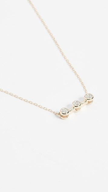 Adina Reyter 14k Gold Three Diamond Necklace