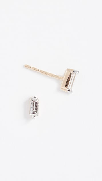 Adina Reyter 14k Gold Baguette Post Earrings