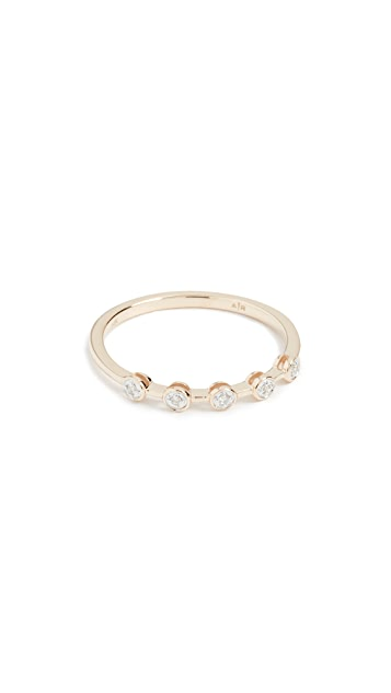 Adina Reyter 14k Gold Five Diamond Ring