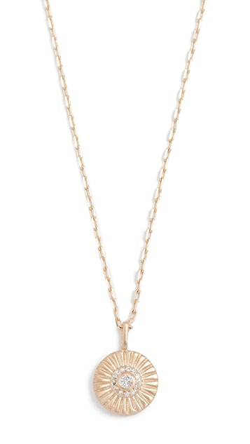 Adina Reyter 14k Gold Diamond Small Rays Pendant