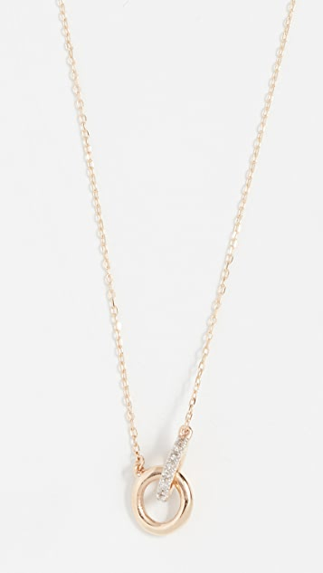 Adina Reyter 14K Interlocking Loop Diamond Necklace