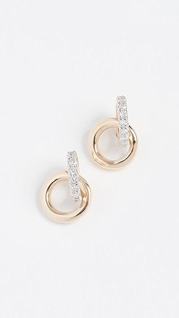 Adina Reyter 14k Diamond Interlocking Loop Post Earrings