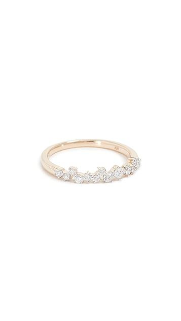 Adina Reyter 14k Extended Scattered Diamond Ring