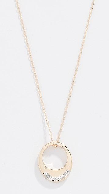 Adina Reyter Tiny Pave Petal Necklace