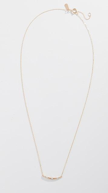 Adina Reyter 14k Small Diamond Stripe Curve Necklace