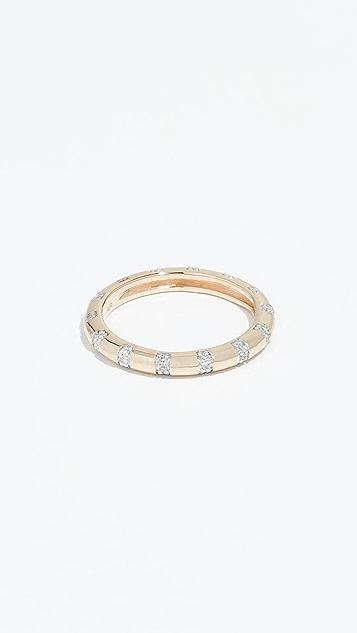 Adina Reyter 14k Pavé Diamond Stripe Band Ring