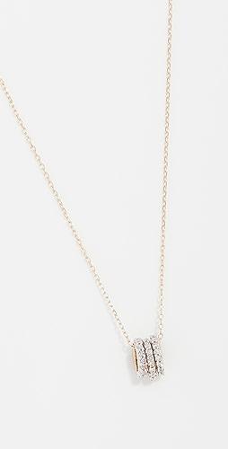 Adina Reyter - 14k Tiny 3 Pavé Beads Necklace