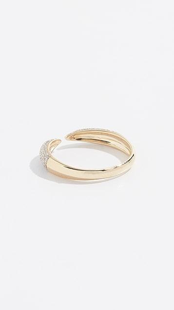 Adina Reyter 14k 密镶爪形戒指