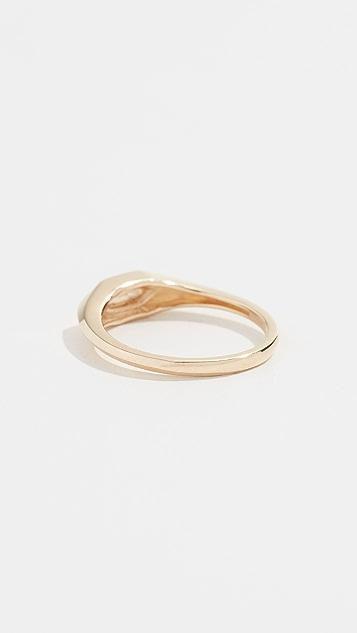 Adina Reyter 14k Small Hexagon Signet Ring
