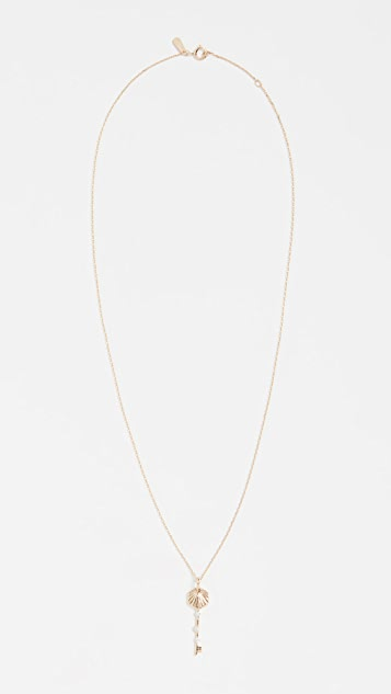 Adina Reyter 14k Small Hexagon Key Necklace