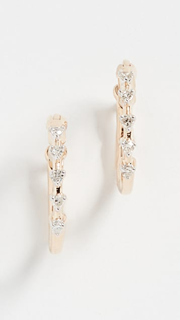 Adina Reyter 14k Diamond Huggie Earrings