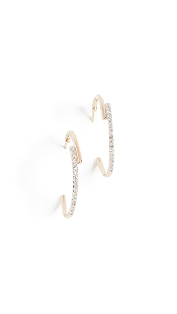 Adina Reyter 14k Medium Crossover Hoop Earrings