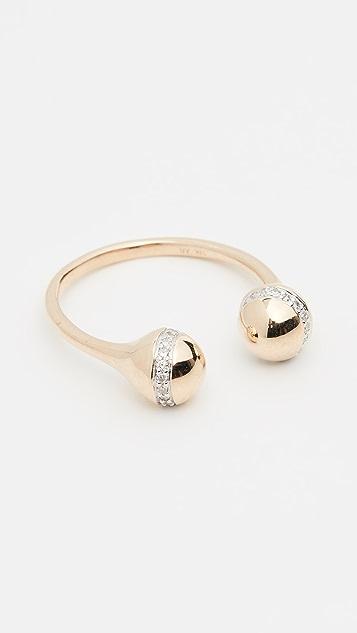 Adina Reyter 14k 双球形戒指