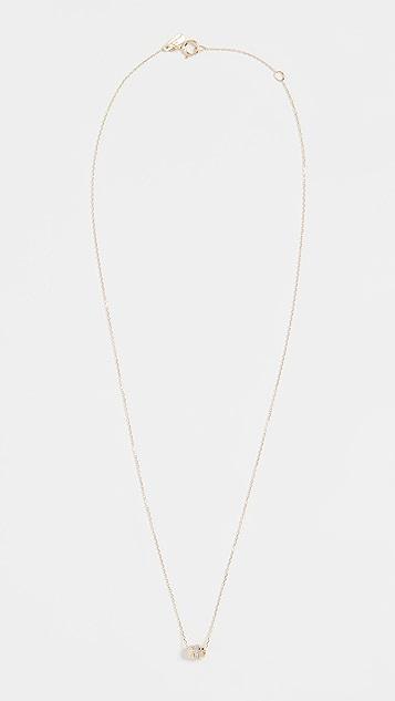 Adina Reyter 14k 超小巧条纹密镶项链