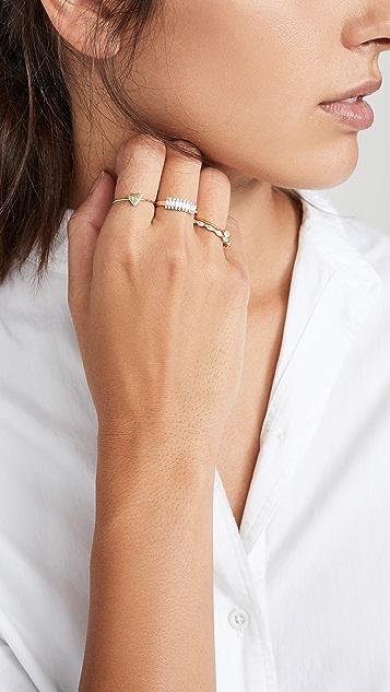 Adina Reyter Stack Baguette Ring