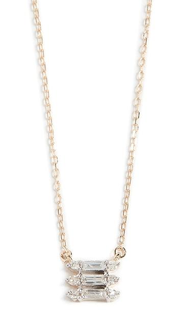 Adina Reyter 14k 三叠层长方形宝石项链