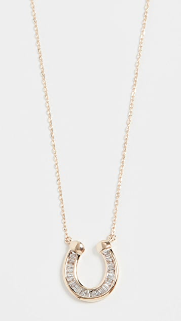 Adina Reyter Baguette Horseshoe Necklace