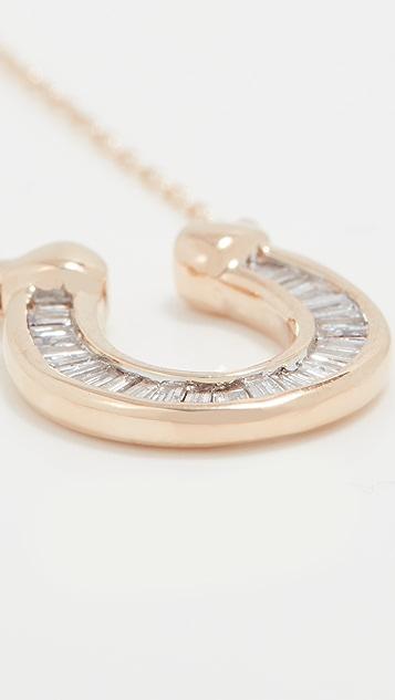 Adina Reyter Baguette Horseshoe Necklace