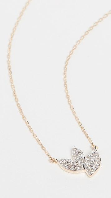 Adina Reyter 14k Tiny Pave Marquise Cluster Necklace