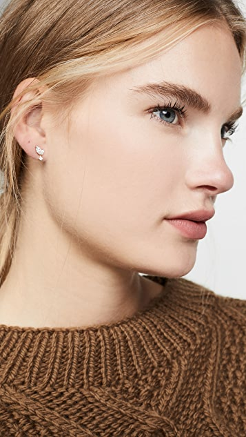 Adina Reyter Grace 2 Marquise Stud Earrings