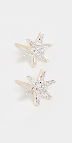 Adina Reyter - 14K 长方形宝石星星耳针