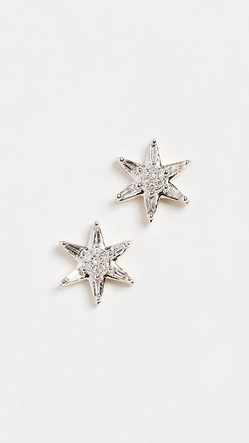 Adina Reyter 14k Baguette Star Post Earrings