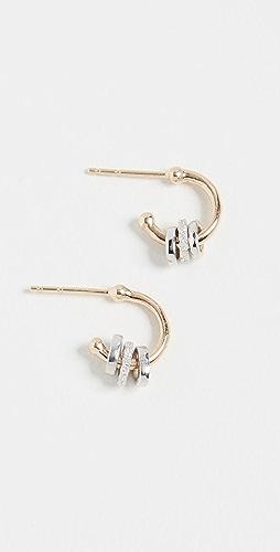 Adina Reyter - 14k Pavé Bead Huggie Hoop Earrings