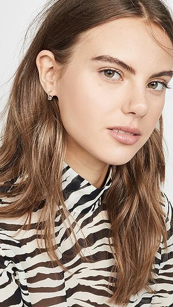 Adina Reyter 14k Pavé Bead Huggie Hoop Earrings