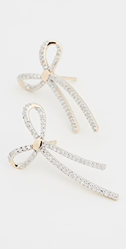 Adina Reyter - 14K 密镶长蝴蝶结针式耳环
