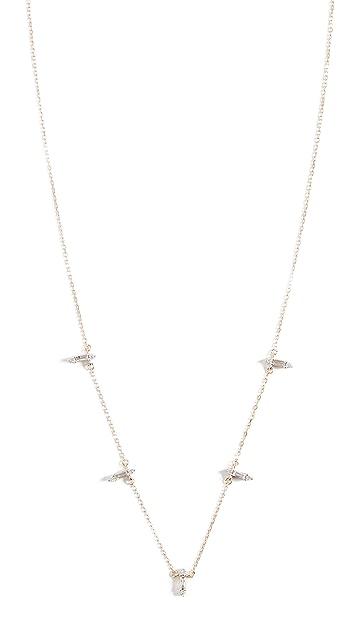 Adina Reyter 层叠长方形宝石链条 14k 项链
