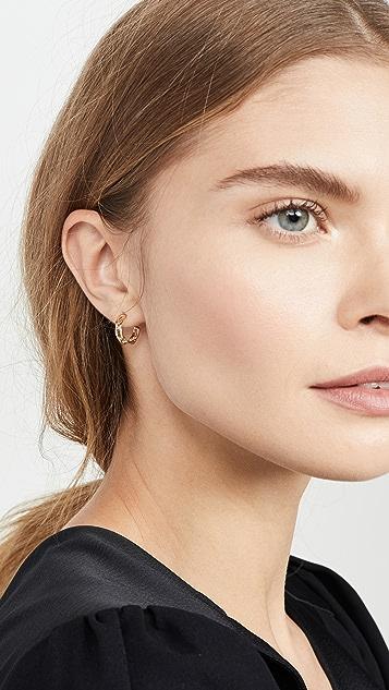 Adina Reyter 14k 交织链贴耳圈式耳环