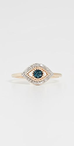Adina Reyter - Tiny Pavé Evil Eye 14k Ring