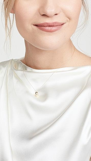 Adina Reyter Колье Celestial из 14-каратного золота с грушевидными бриллиантами