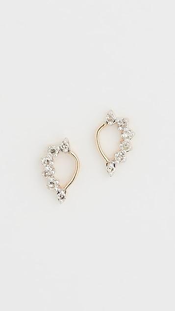 Adina Reyter 14k Super Tiny Side Diamond Teardrop Earrings