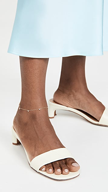 Adina Reyter 5 Cluster Chain Anklet