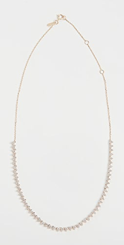 Adina Reyter - Diamond Cluster Half Riviera Necklace