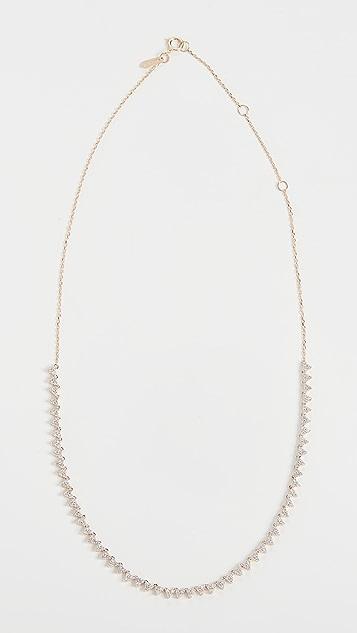 Adina Reyter Half Riviera 钻石簇状项链