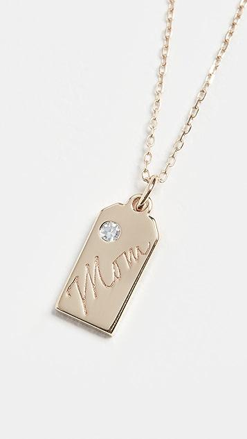 Adina Reyter 14k Mom 钻石标签项链