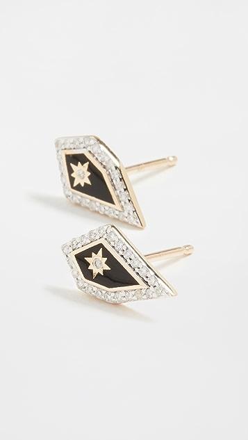Adina Reyter 14k Mosaic Pave Star Post Earrings