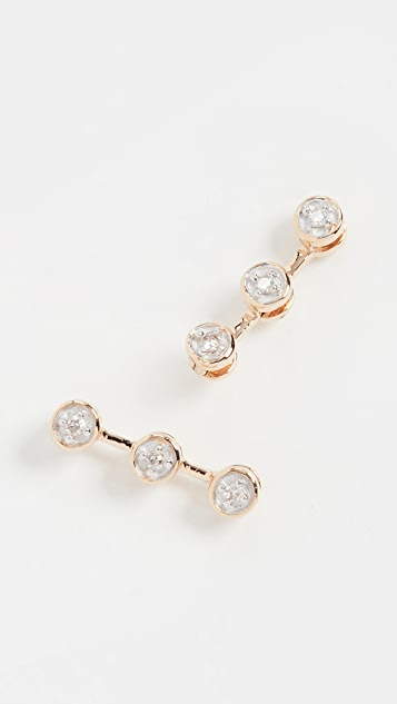 Adina Reyter 14k 3 Diamond Post Earrings