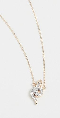 Adina Reyter - Tiny Pavé Snake Necklace