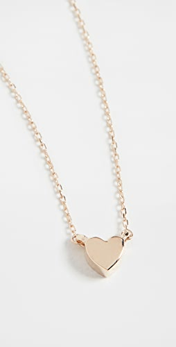 Adina Reyter - 14k Super Tiny Puffy Heart Necklace