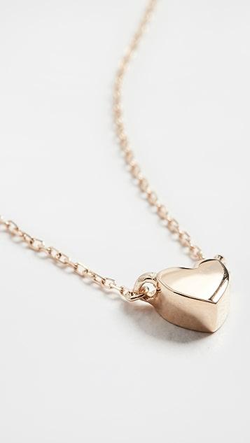 Adina Reyter 14k Super Tiny Puffy Heart Necklace