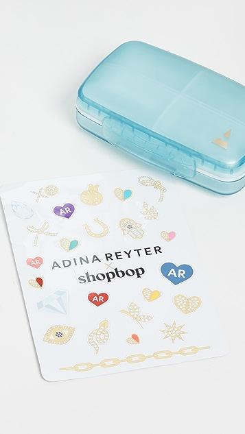 Adina Reyter Jade, Rose Quartz, and Diamond Spacer Hoop Kit