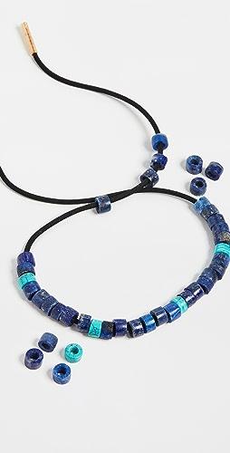 Adina Reyter - Turquoise & Lapis Leather Bracelet Set