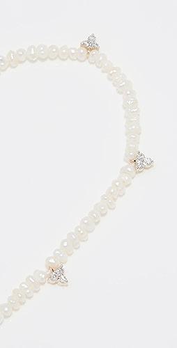 Adina Reyter - Diamond Cluster Freshwater Pearl Bracelet
