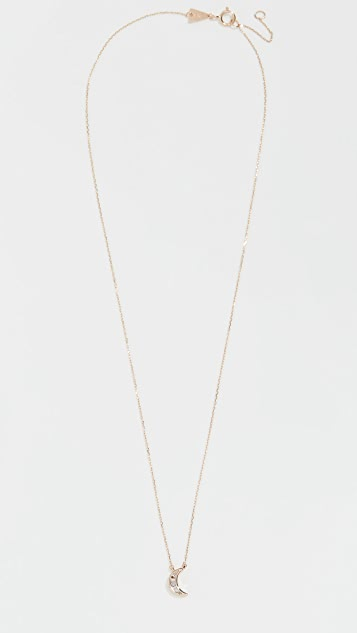 Adina Reyter Baguette Moon Necklace