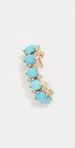 Adina Reyter - 14k Turquoise Diamond Ear Cuff