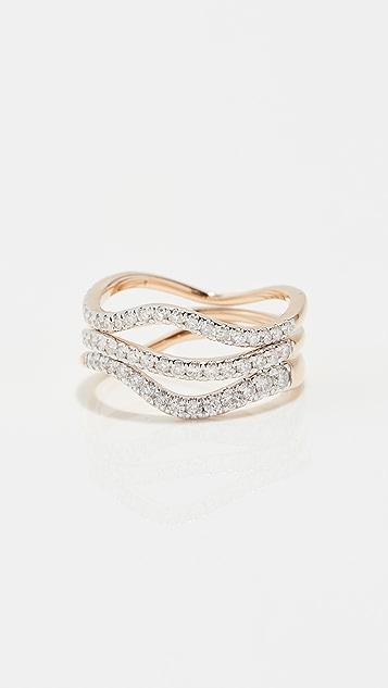 Adina Reyter 密镶波纹形戒指