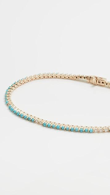 Adina Reyter 14k Turquoise and Diamond Tennis Bracelet